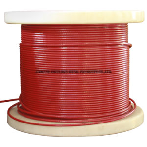Stainless Steel Wire Rope (coated red) pictures & photos