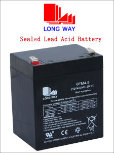 12V4.5ah Valve Regulated Sealed Lead Acid Rechargeable Battery pictures & photos