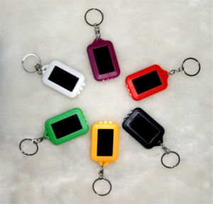 Solar Flashlight Key Chain, LED Light, LED Key Chain