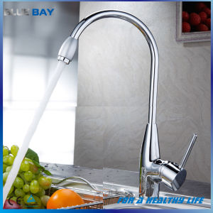 Chrome Hot/Cold Single Lever Kitchen Sink Water Tap pictures & photos