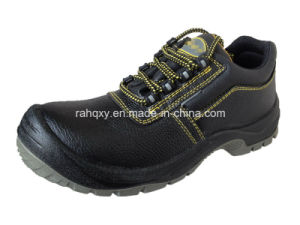 Split Embossed Leather Safety Shoes Low Cut Ankle (HQ03054) pictures & photos