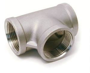 Stainless Steel Casting Female Thread Tee Equal Tee (NPT, BSP, BSPT, G thread)