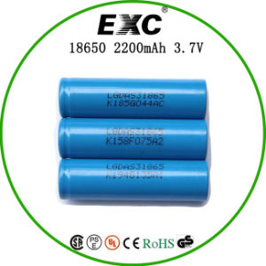 18650 3.7V 2200mAh Cylindrical Lithium Ion Battery pictures & photos