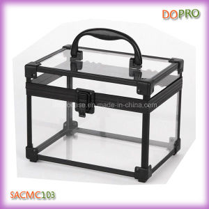 Aluminium Jewelry Box Wholesale Transparent Beauty Case (SACMC103)