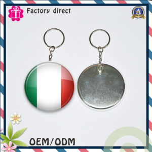 Key Chain with Tinplate Mirror Custom Logo pictures & photos