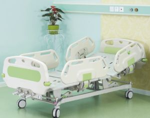 Hospital Furniture Three Crank Manual Hospital Bed pictures & photos