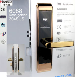 Drawing Surface Treatment Bank Use Card Door Lock Set (HD6028) pictures & photos