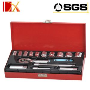 15PCS Socket Set with 3/8′ Dr. Ratchet Handle Wrench