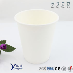 20cl Recyclable Plain White Bakery Single Wall Paper Cups pictures & photos