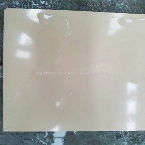 Wholesale Pure Beige Artificial Granite Stone Slabs for Wall Cladding/Countertop/Flooring /Tiles