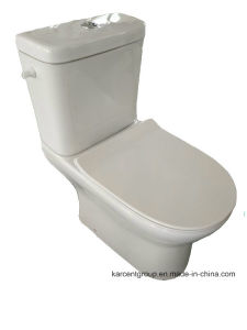 Two Piece Ceramic Toilet Ce Washdown Water Closet 00013CD