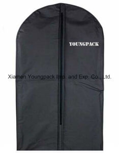 Custom Black Plastic PEVA Suit Garment Bag pictures & photos