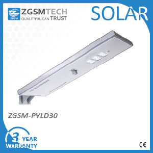 30W IP65 Outdoor Integrated Motion Sensor All in One Solar Street Light with Solar Panel pictures & photos