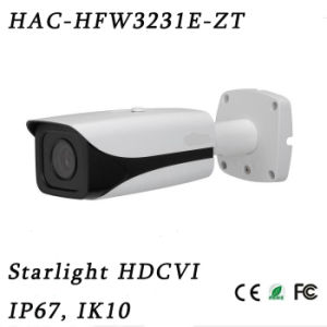 2megapixel Metal 1080P Starlight Hdcvi SD Tester out High Definition IR Bullet Camera{Hac-Hfw3231e-Zt}