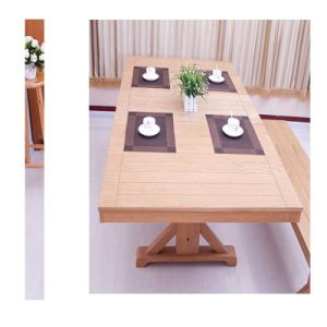 Oak Folding Dining Table Home Furniture With Dinding Chair