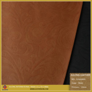 Printing PU Leather Shoe Leather Faux Leaher (S216100PG) pictures & photos