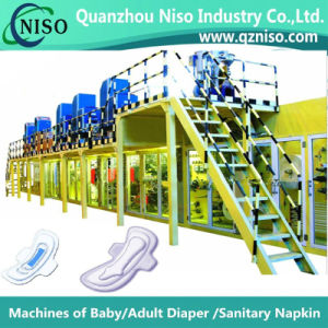 Semi-Servo High Speed Lady Sanitary Pads Machine pictures & photos