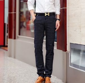Newly-Designed Plaid Casual Long Casual Pants in 2015 pictures & photos