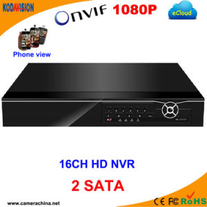 16 Channel H. 264 1080P CCTV NVR with 2SATA