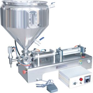 Horizontal Single Head Paste Filling Machine with Deluxe Heating Tank pictures & photos