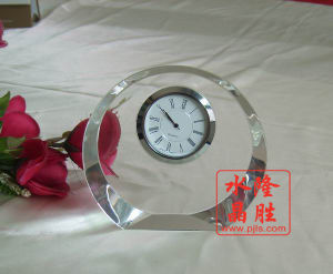 2017 New Design Crystal Glass Clock for Table Decoration pictures & photos