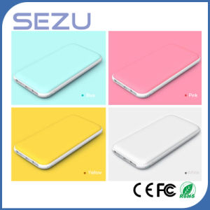 Ultra Thin High Capacity 10000mAh Rubber Oil Surface Power Bank with Dual Output pictures & photos