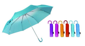 3 Section Manual Open Windproof Compact Umbrellas