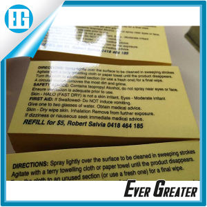 Custom Transparent Stickers Printing Black Clear Text Label pictures & photos