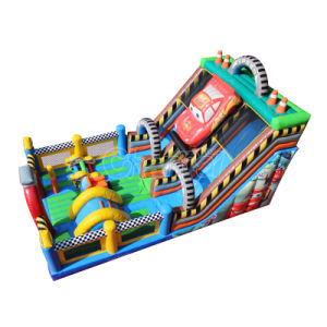 Giant Car Inflatable Obstacle Course Combo with Slide Chob550
