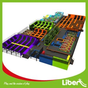 Novel Design Large Trampolines with Indoor Playground
