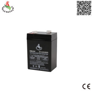 6V 6ah AGM Rechargeable Lead Acid Battery with Ce