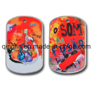 Custom Fashion and Colorful Scrawl Pet Tag (QL-GP-0003)