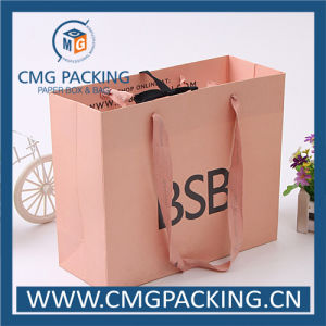 Rose Golden Pink Offset Printing Gift Paper Bag (CMG-MAY-017) pictures & photos