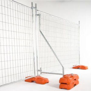 Construction Temporary Fence Panel with Flat Foot / Plastic Foot pictures & photos