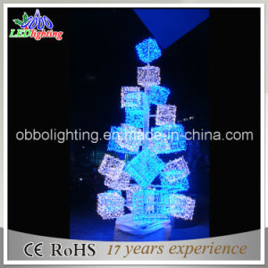 new design 3d outdoor metal bluewhite christmas tree lights - Outdoor Metal Christmas Trees