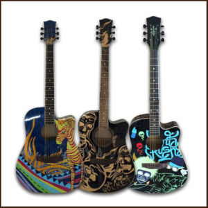 "41"" Acoustic Guitar with Printing"