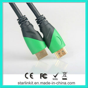 High Speed HDMI Cable 3D 4k Gold Plated Black Green pictures & photos