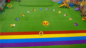 25mm Kindergarten Association Artificial Grass Color Customized Artificial Turf