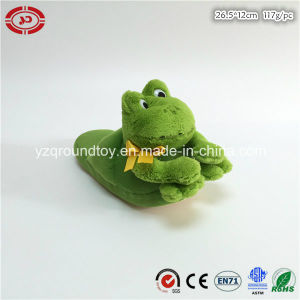 Frog Green Cute Plastic Eyes Plush Soft Fluffy CE Slipper pictures & photos