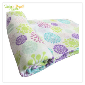 100/% Organic Cotton Muslin Swaddle Blanket Floral Design For Baby Boys