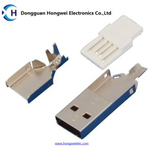 Male Solder Three - Piece Suits USB 2.0 Connector