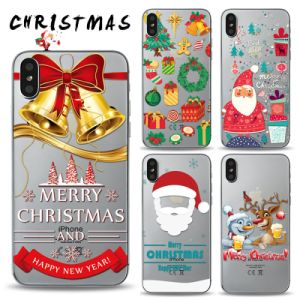 Christmas Iphone X Case.Christmas Gift Custom Printed Phone Case For Iphone X Clear Tpu Case Bumper Mobile Cover For Iphone X Case Ypf75