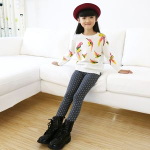 OEM Good Quality Breathable Dotted Printed Children Leggings pictures & photos