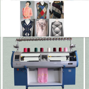 China Single System 12g Computerized Flatbed Jacquard Knitting