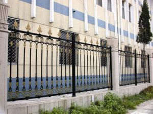 Ornamental Outdoor Wrought Iron Fence