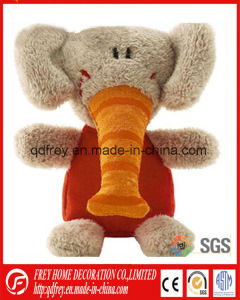 Funny Cute Soft Elephant Toy with Clock Embroidered pictures & photos