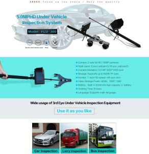Portable Handheld 1080P HD Uvss Under Vehicle Car Inspection Camera System H2d-300 pictures & photos