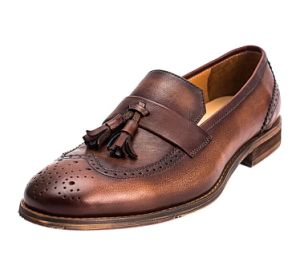 d69dd02c14558 China Brown Soft Leather Tassel Flat Men Dress Loafer Shoes - China ...