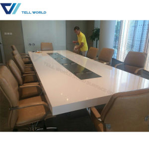 China MultiFunction Curved Modern Smart Conference Table Western
