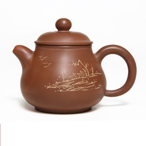 China Simple Pan Hu Not Yixing Clay Teapot Decorative Tea Kettle